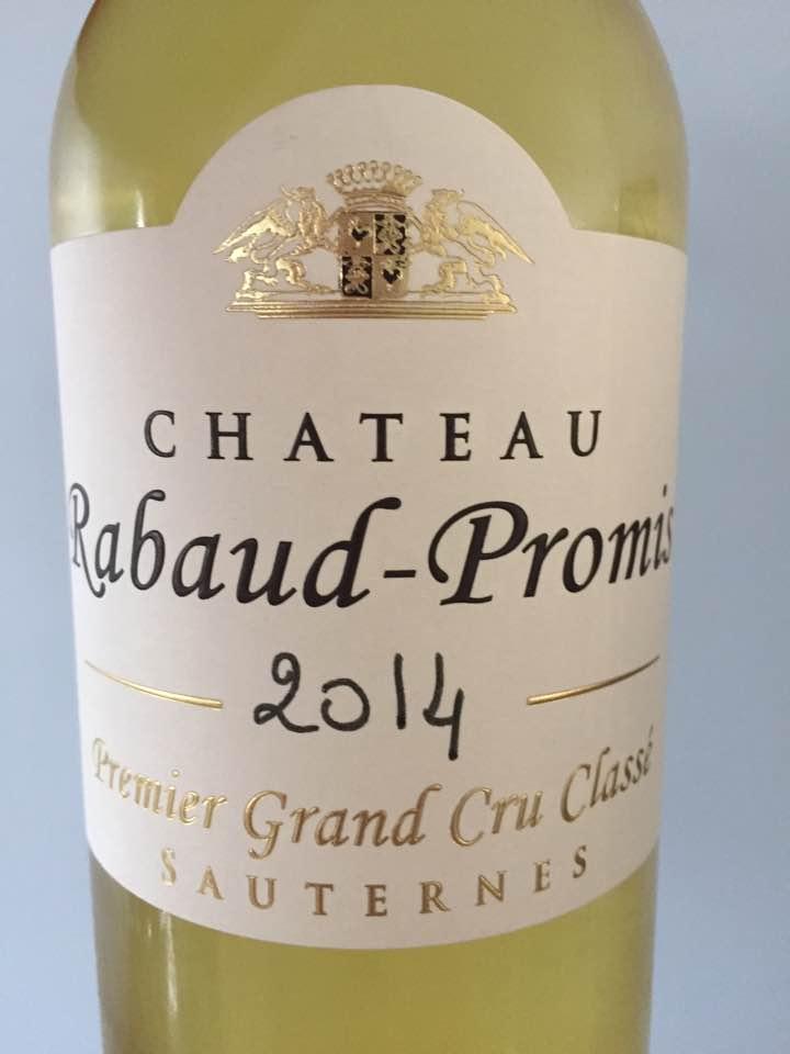 Château Rabaud-Promis 2014 – Sauternes, Grand Cru Classé