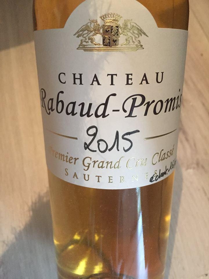 Château Rabaud-Promis 2015 – Sauternes, Premier Grand Cru Classé