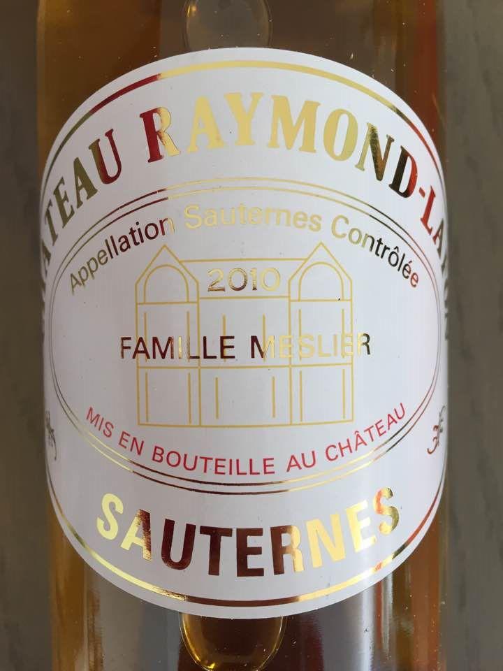 Château Raymond-Lafon 2010 – Sauternes