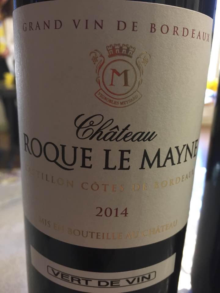 Château Roque Le Mayne 2014 – Castillon Côtes-de-Bordeaux