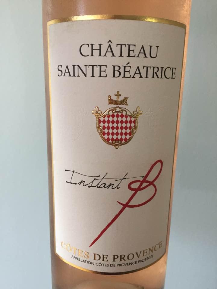 Château Sainte Béatrice – Instant B 2016  – Côtes de Provence