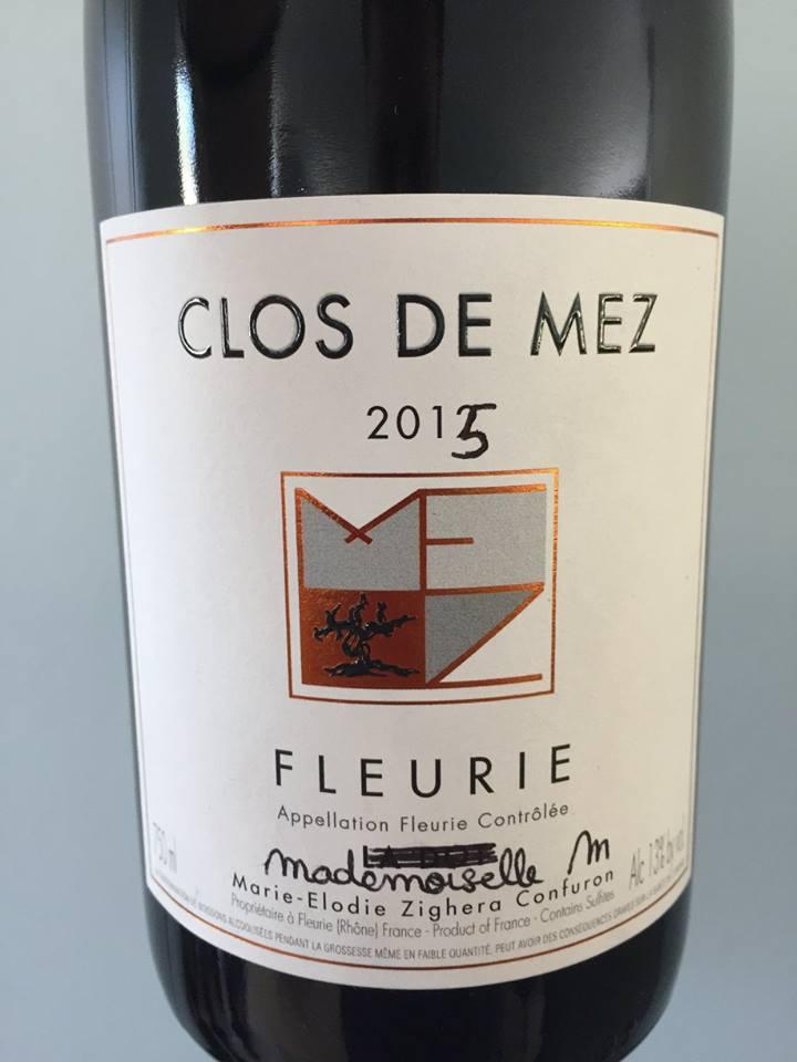 Clos de Mez – Mademoiselle M 2015 – Fleurie