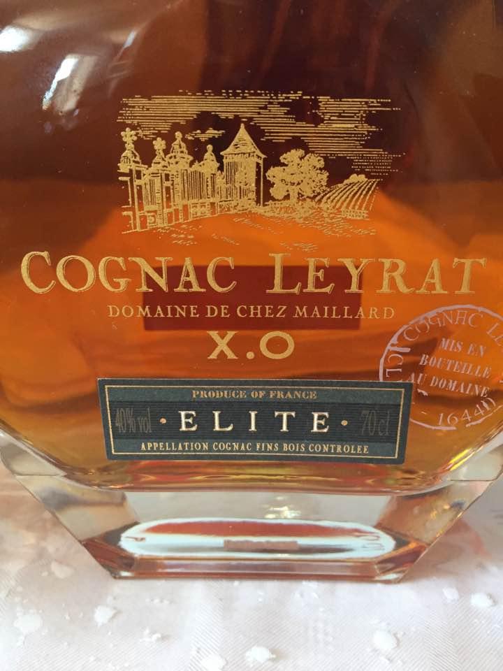 Cognac Leyrat – Domaine de Chez Maillard – XO Elite – Cognac Fins Bois – Single Estate
