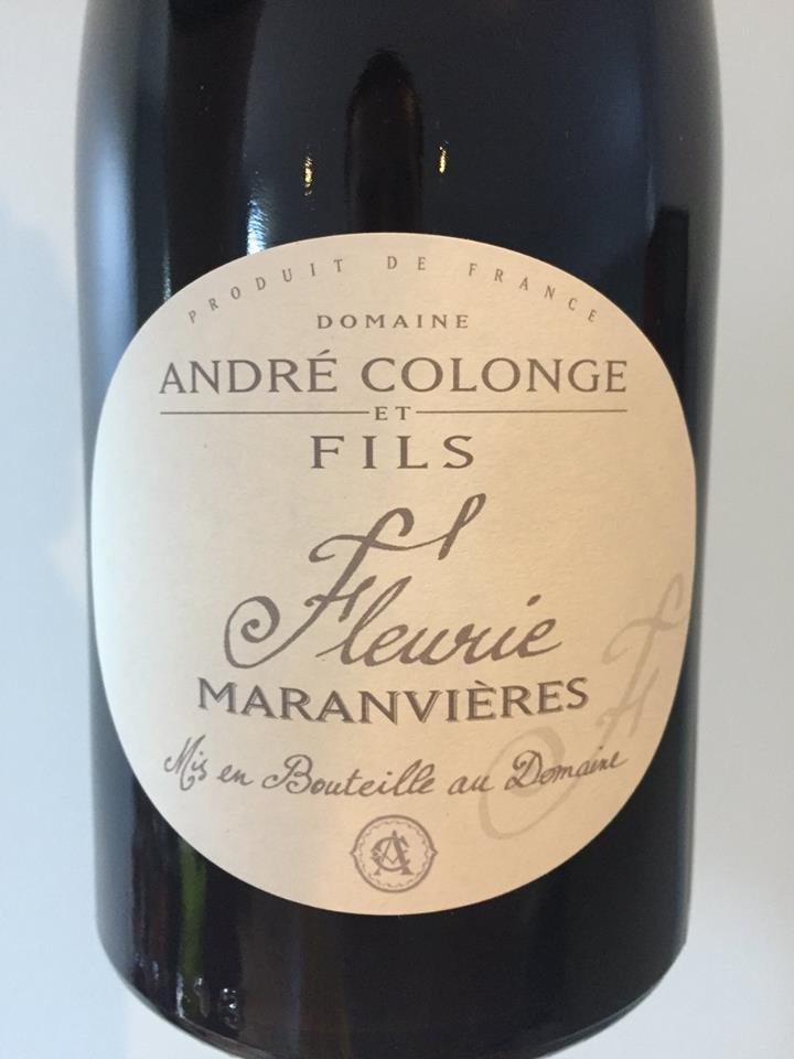 Domaine André Colonge & Fils – Maranvières 2011 – Fleurie