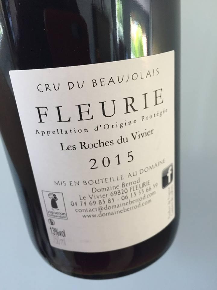 Domaine Berrod – Les Roches du Vivier 2015 – Fleurie
