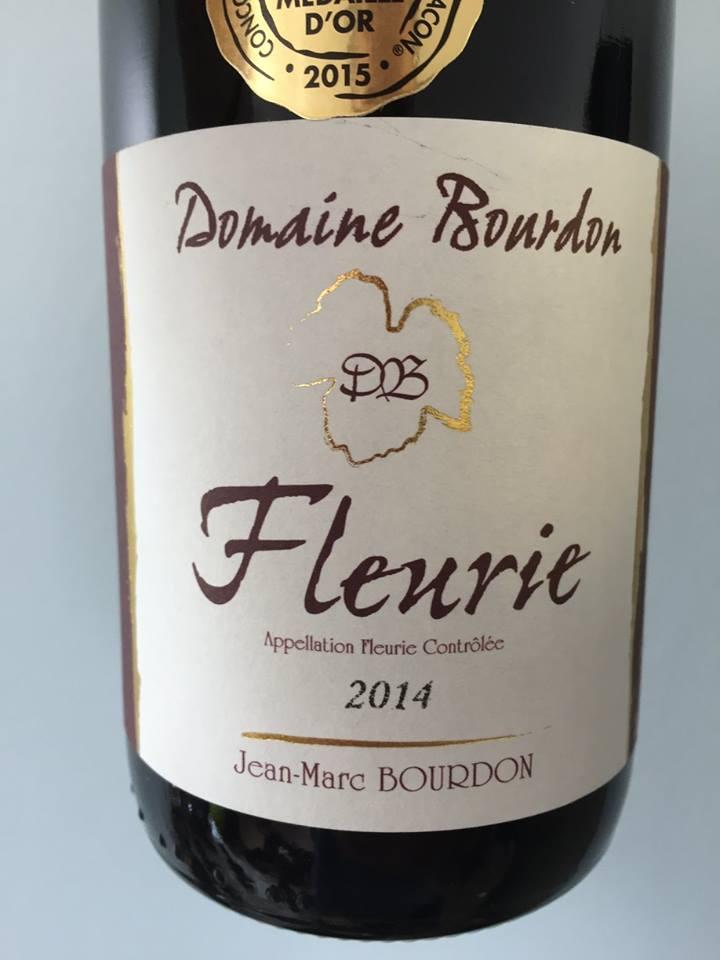 Domaine Bourdon 2014 – Fleurie