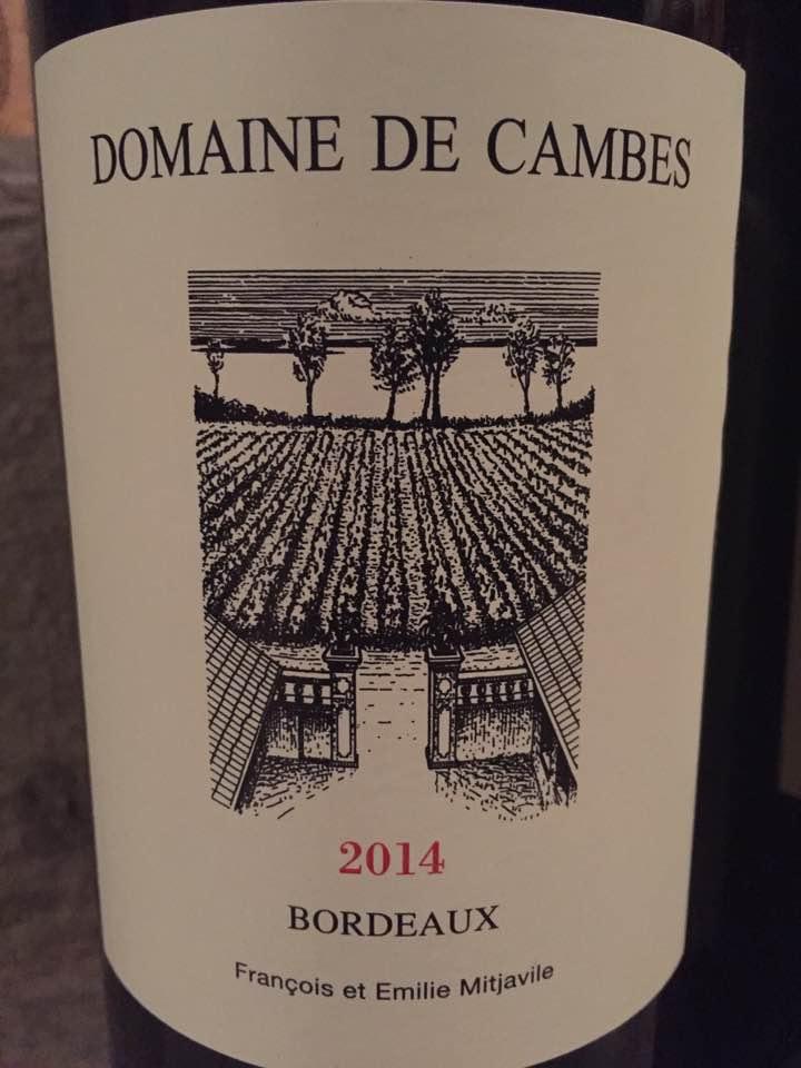 Domaine de Cambes 2014 – Côtes de Bourg