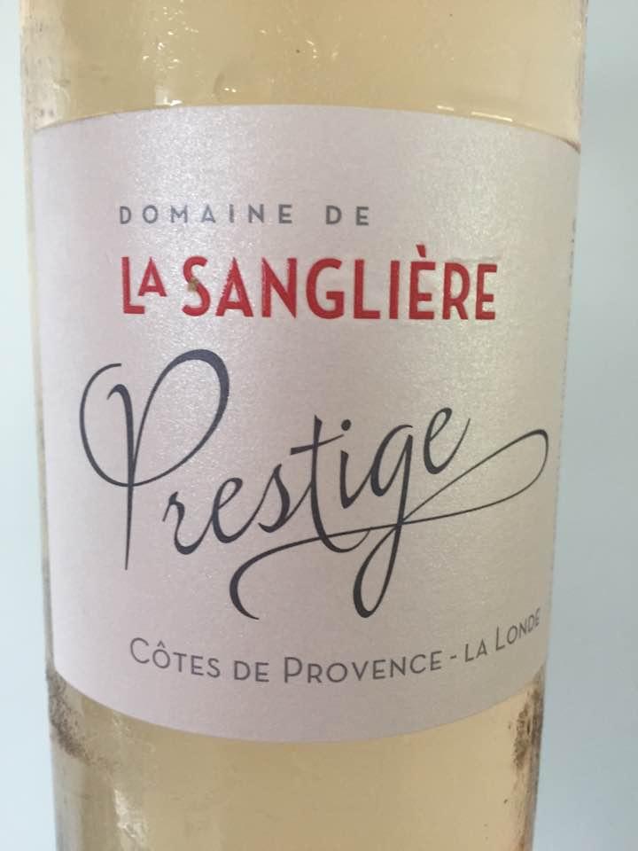Domaine de La Sanglière – Prestige 2016 – Côtes de Provence – La Londe