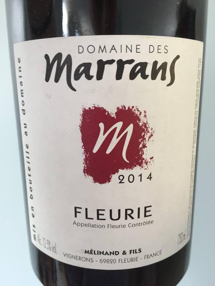 Domaine des Marrans 2014 – Fleurie