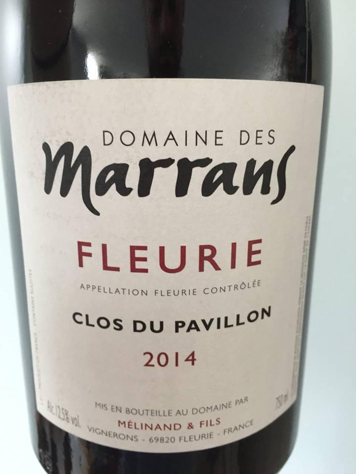 Domaine des Marrans – Clos du Pavillon 2014 – Fleurie