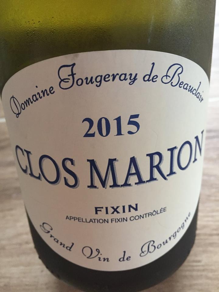 Domaine Fougeray de Beauclair – Clos Marion 2015 – Fixin