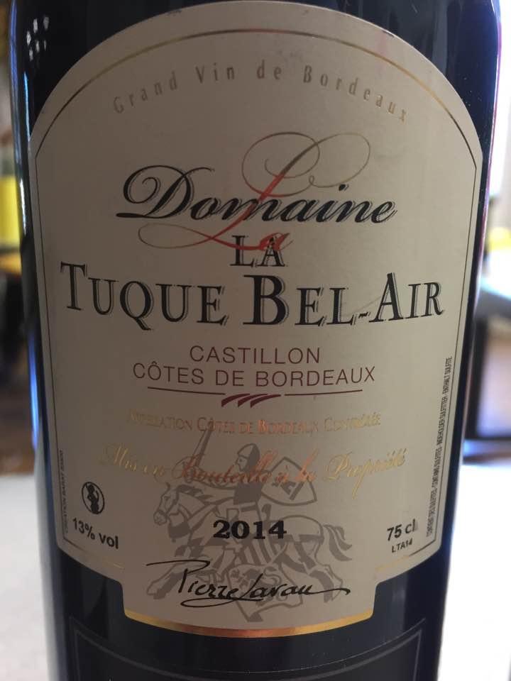 Domaine La Tuque Bel Air 2014 – Castillon Côtes-de-Bordeaux