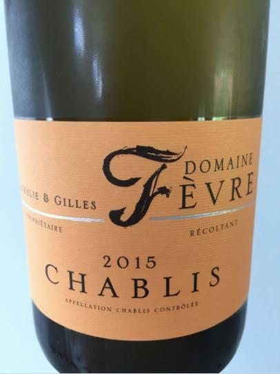 Domaine Nathalie & Gilles Fèvre 2015 – Chablis