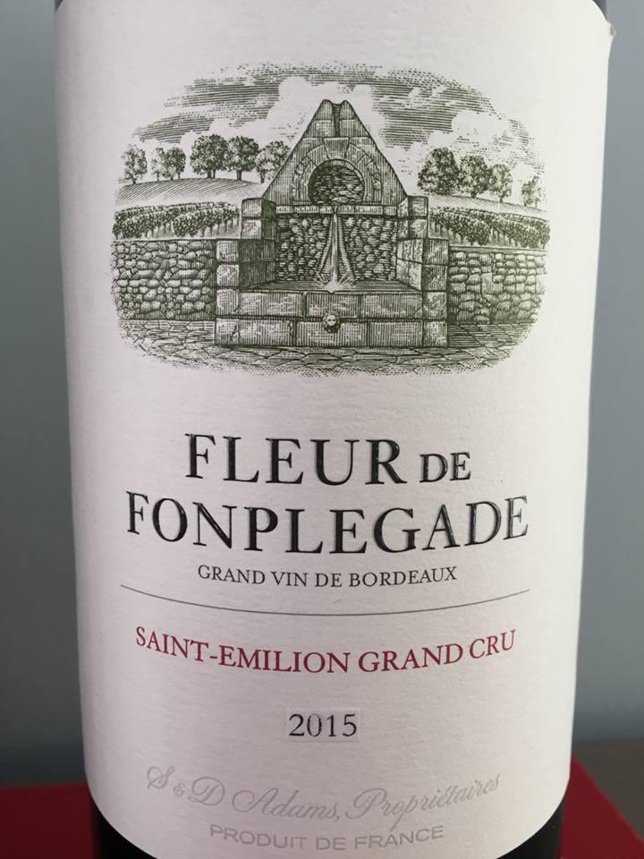 Fleur de Fonplegade 2015 – Saint-Emilion Grand Cru
