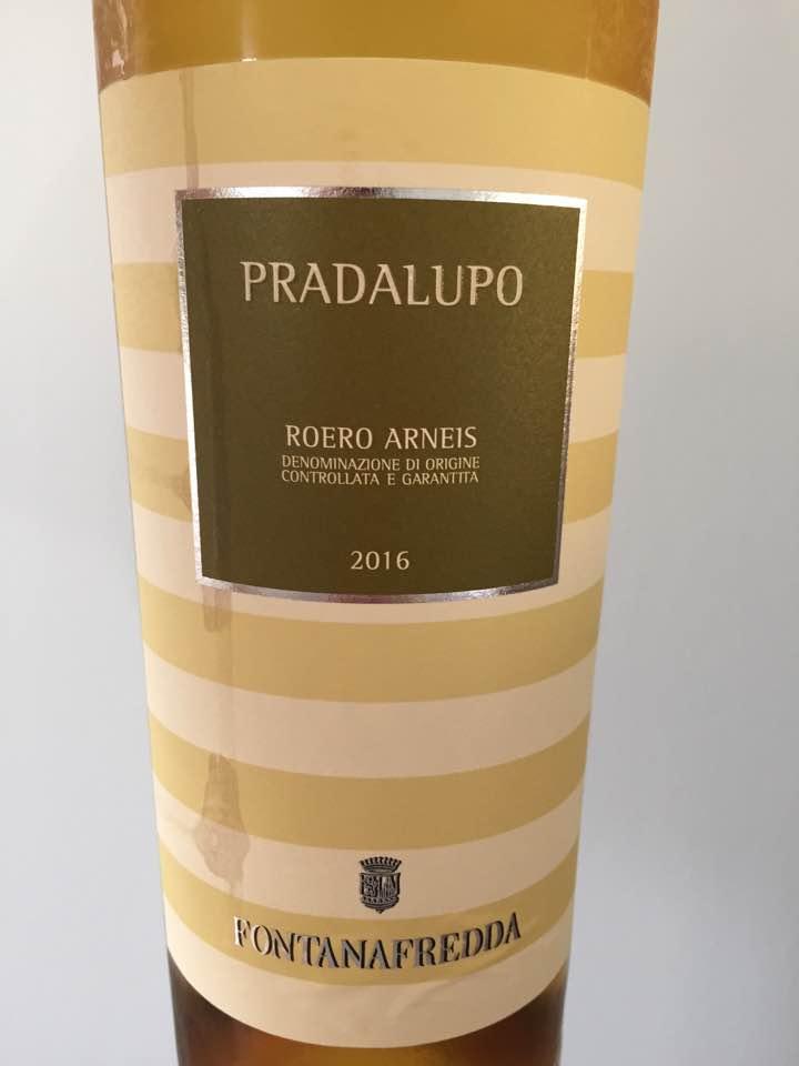 Fontana Fredda – Pradalupo 2016 – Roero Arneis