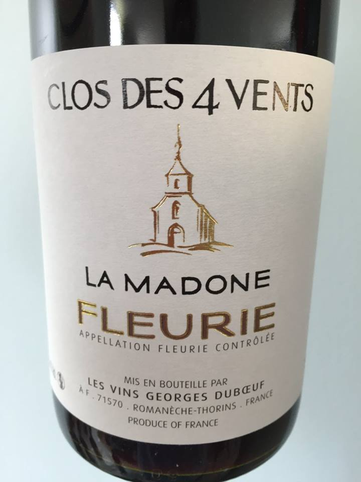 Georges Duboeuf – Clos des 4 Vents – La Madone 2015 – Fleurie