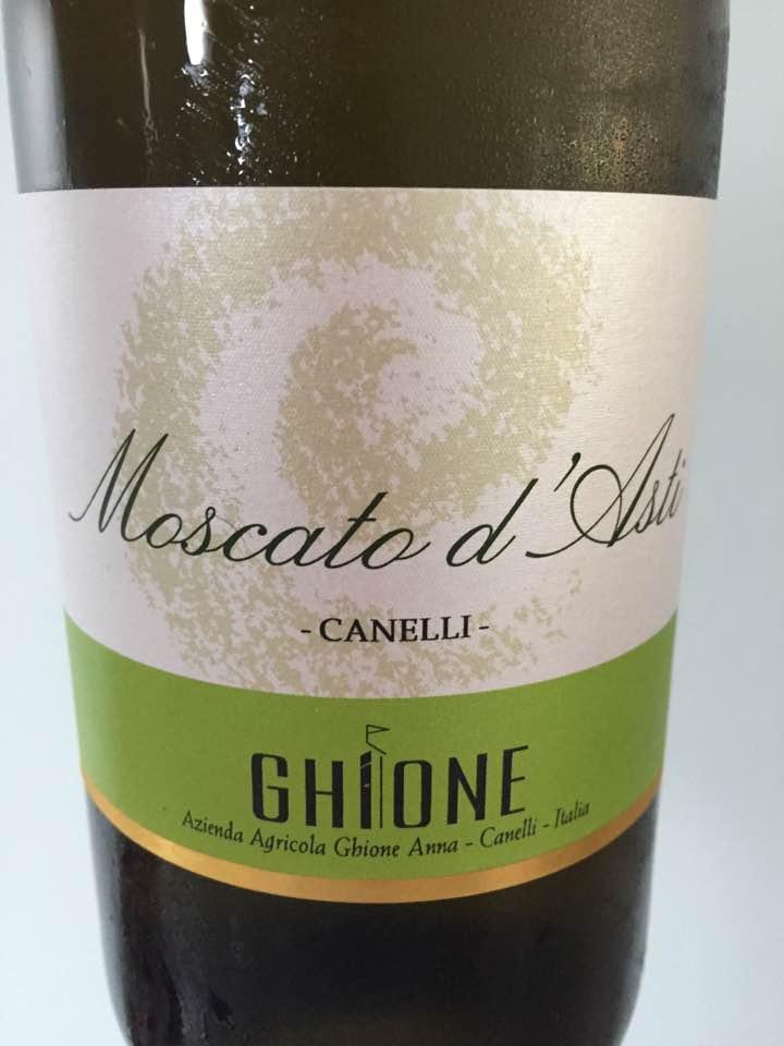 Ghione – Canelli 2016 – Moscato d'Asti