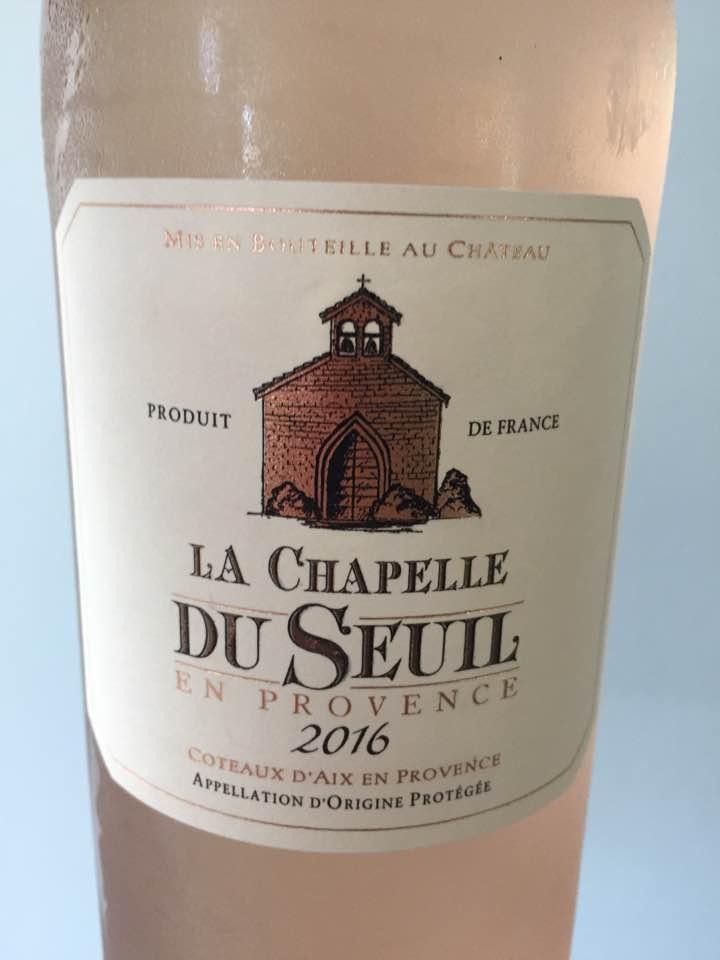 La Chapelle du Seuil en Provence 2016 – Coteaux d'Aix En Provence