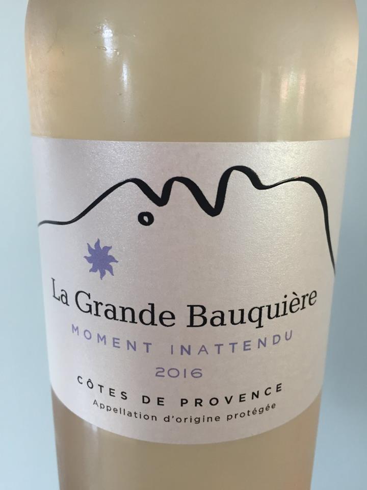 La Grande Bauquière – Moment Inattendu 2016 – Côtes de Provence