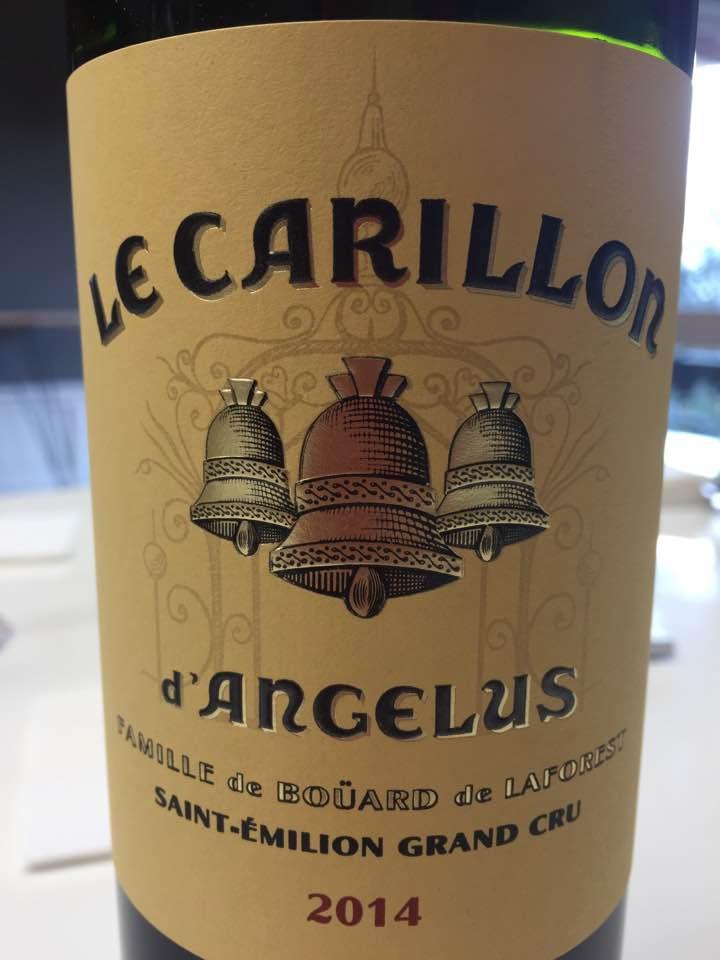 Le Carillon d'Angelus 2014 – Saint-Emilion Grand Cru