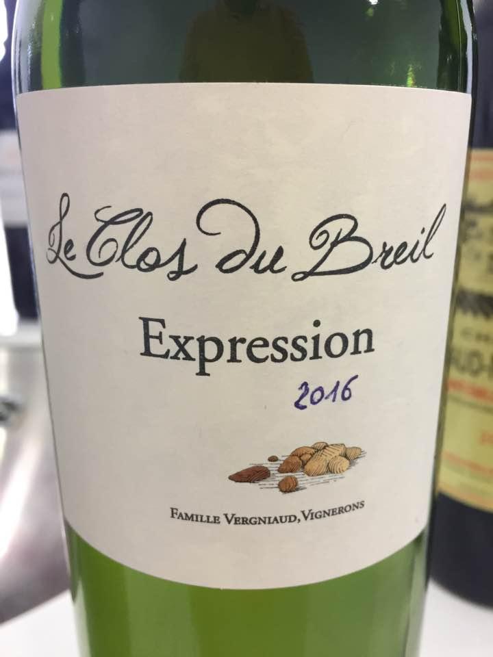 Le Clos du Breil – Expression 2016 – Bordeaux