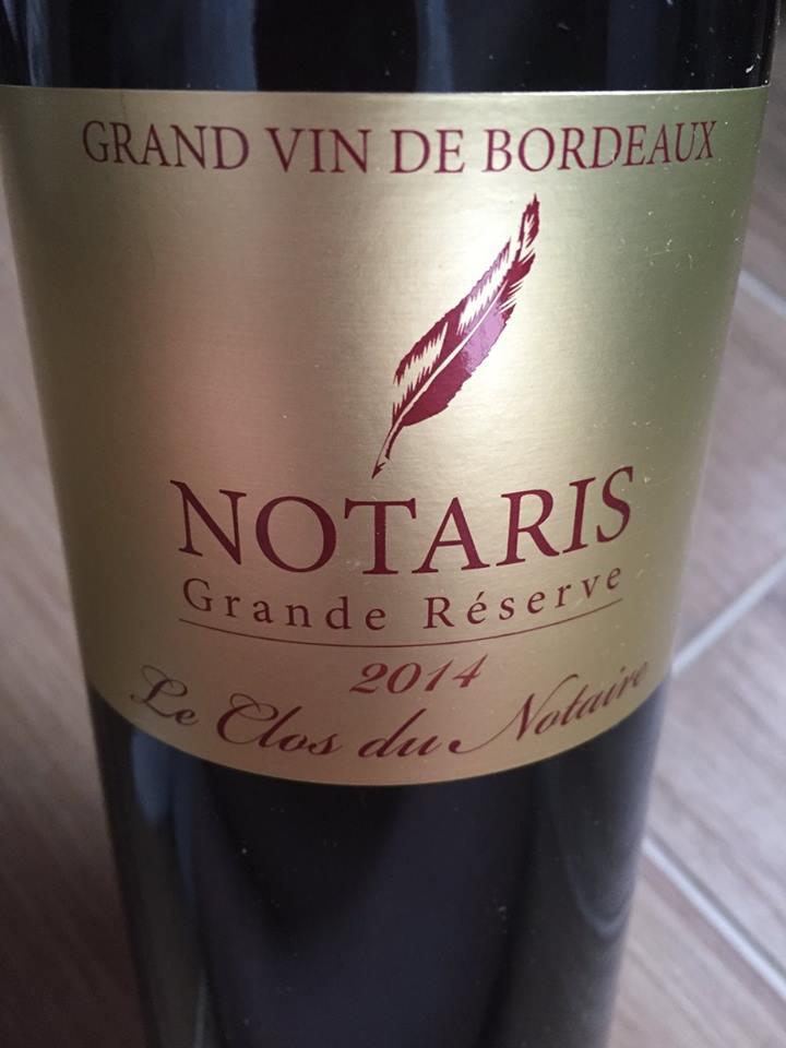 Le Clos du Notaire – Notaris – Grande Réserve 2014 – Côtes de Bourg