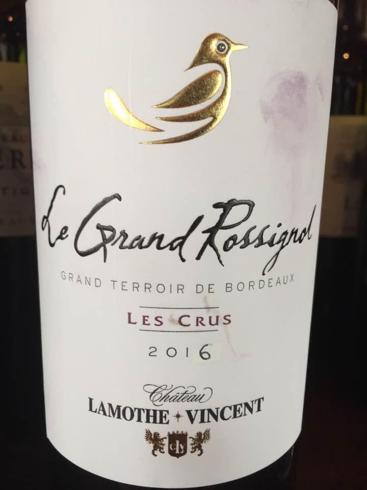 Le Grand Rossignol – Les Crus 2016 – Bordeaux Supérieur