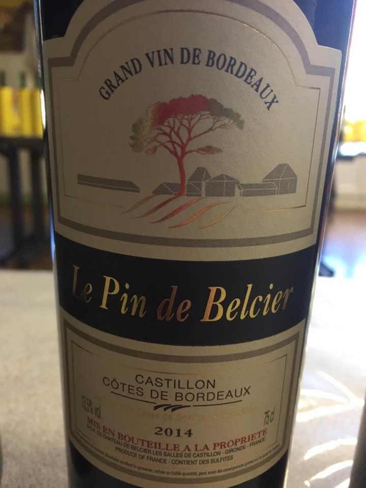 Le Pin de Belcier 2014 – Castillon Côtes-de-Bordeaux