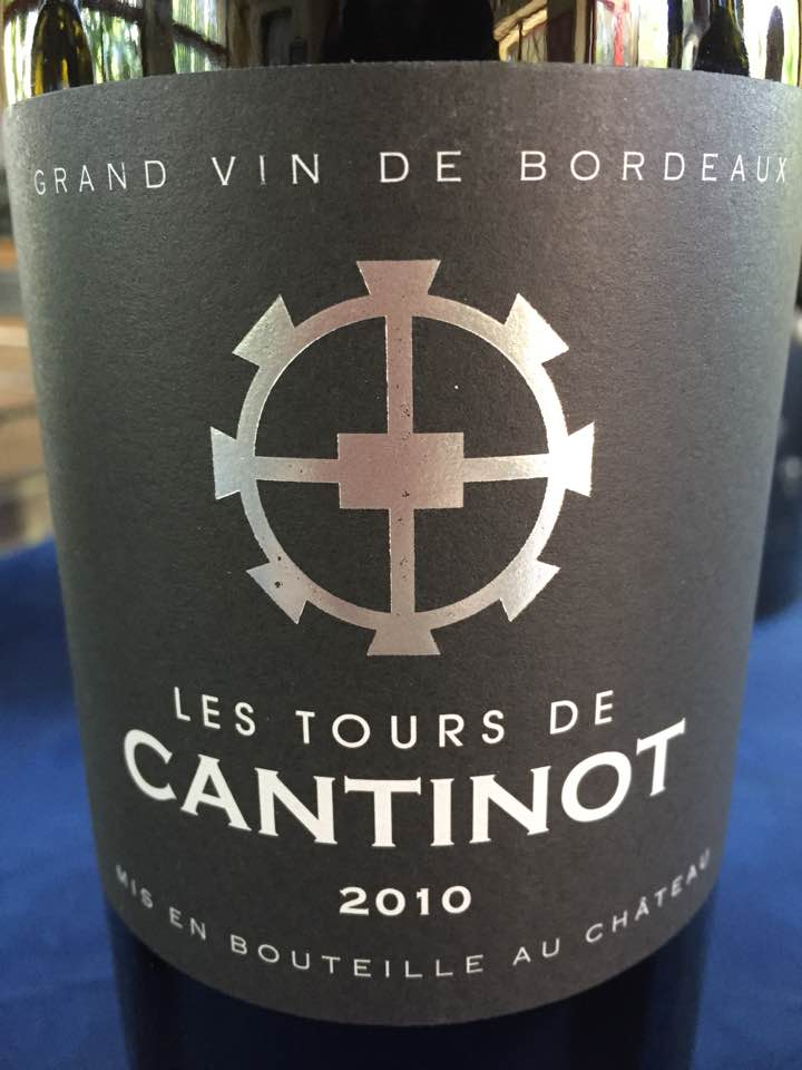 Les Tours de Cantinot 2010 – Blaye Côtes de Bordeaux