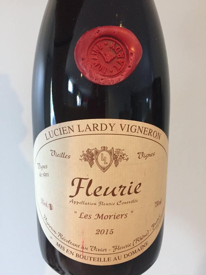 Lucien Lardy Vigneron – Les Moriers 2015 – Fleurie