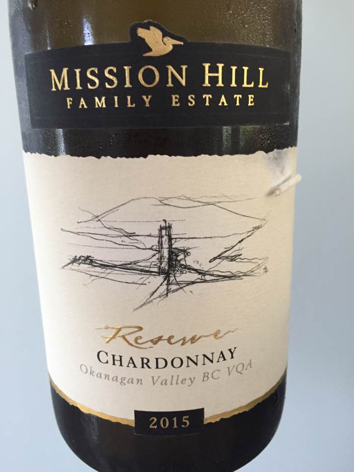 Mission Hill Family Estate – Chardonnay Reserve 2015 – Okanagan Valley BC VQA