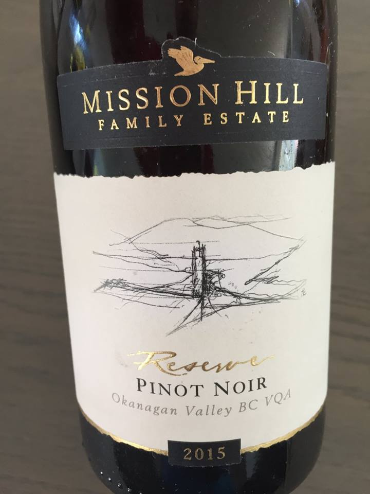 Mission Hill Family Estate – Pinot Noir Reserve 2015 – BC VQA Okanagan Valley