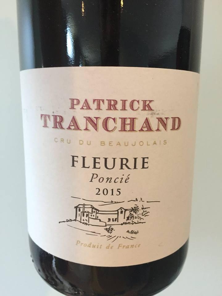 Patrick Tranchand – Poncié 2015 – Fleurie
