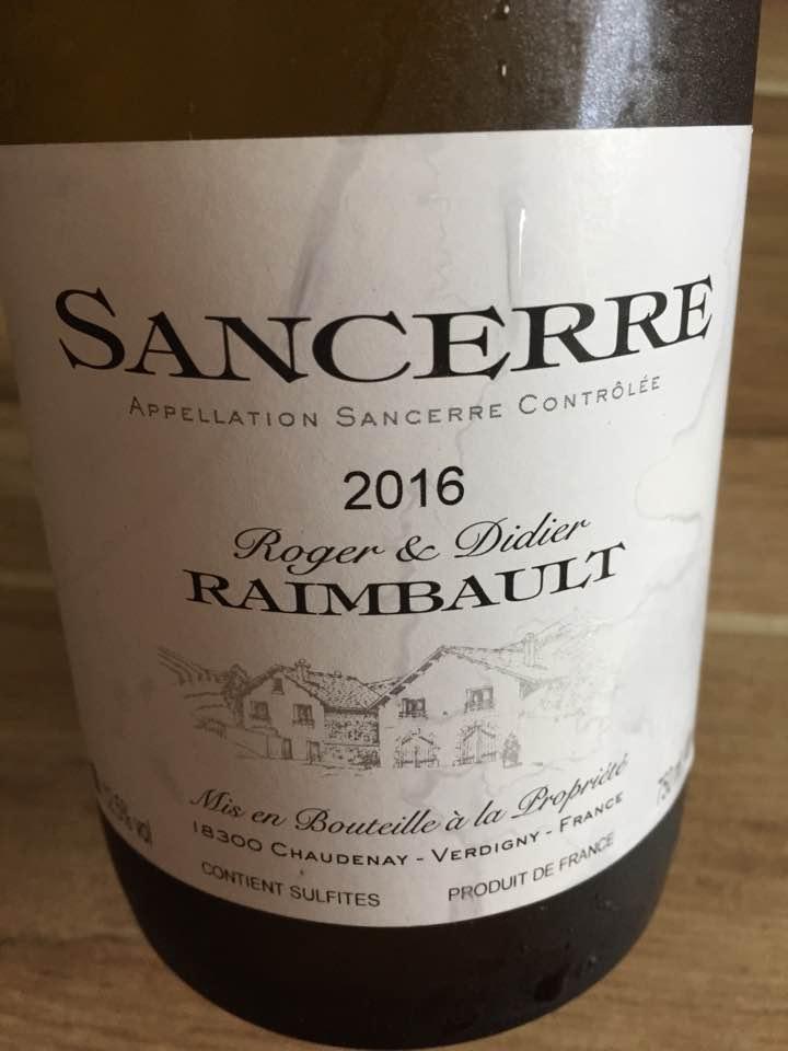 Roger & Didier Raimbault 2016 – Sancerre