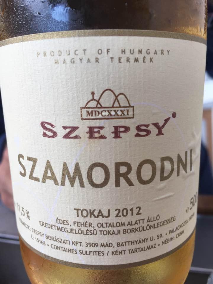 Szepsy – Szamorodni 2012 – Tokaj