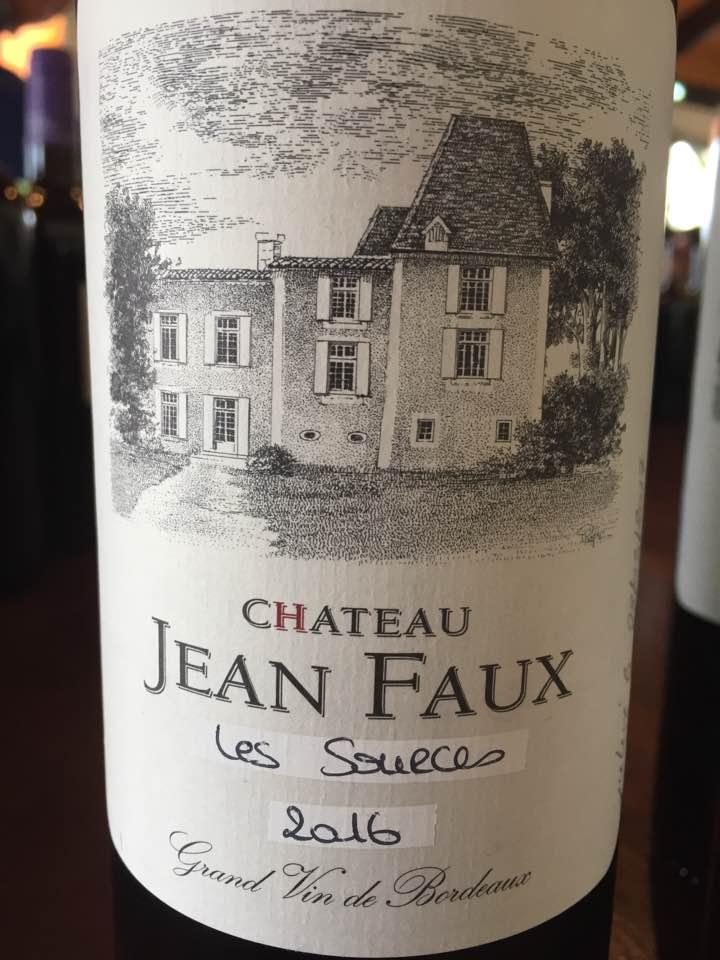 Château Jean Faux – Les Sources 2016 – Bordeaux Supérieur