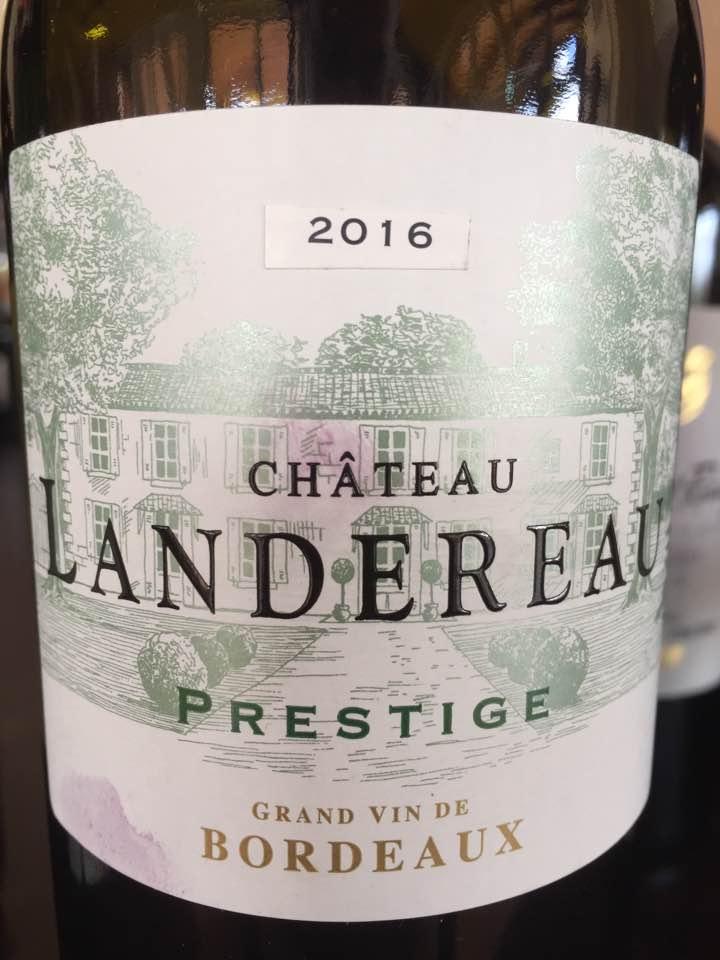 Château Landereau – Prestige 2016– Bordeaux Supérieur