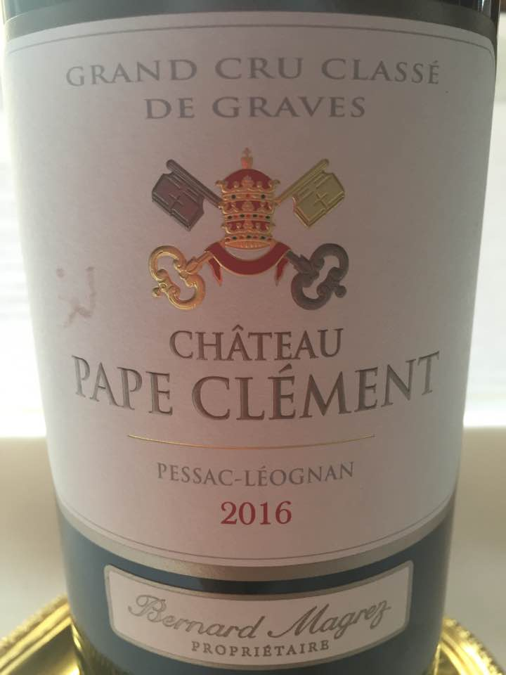 Château Pape Clément2016 – Pessac Léognan – Grand Cru Classé de Graves