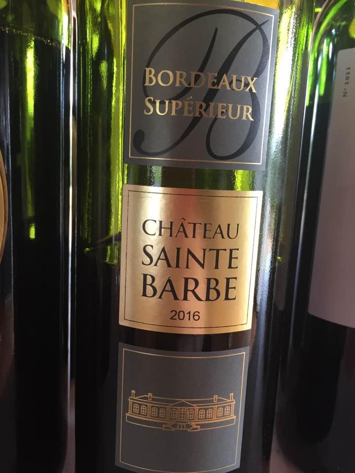 Château Sainte Barbe 2016– Bordeaux Supérieur
