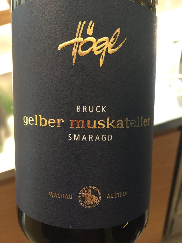 Högl – Bruck Gelber Muskateller 2016 Smaragd – Wachau
