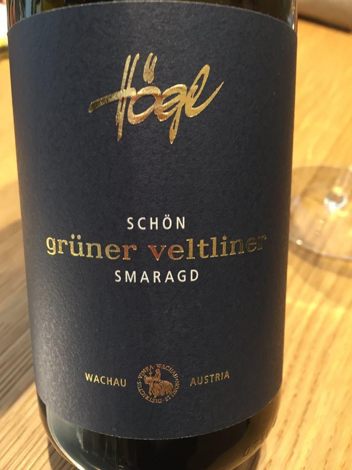 Högl – Schön Grüner Veltliner 2016Smaragd – Wachau