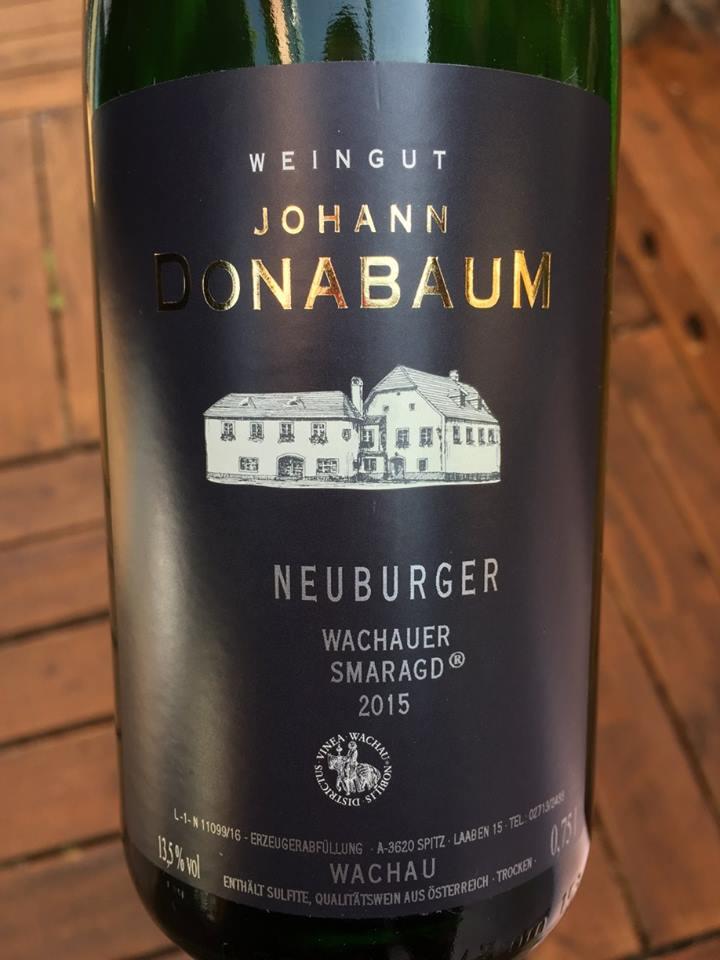 Johann Donabaum – Neuburger 2015 Smaragd – Wachau