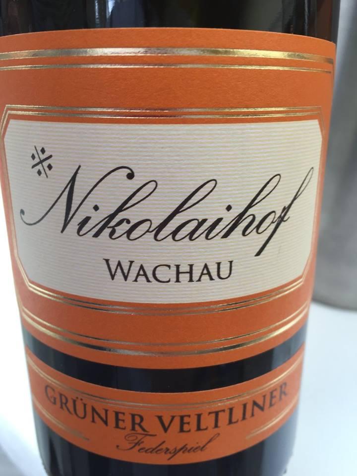 Nikolaihof – Grüner Veltliner 2010 – Wachau