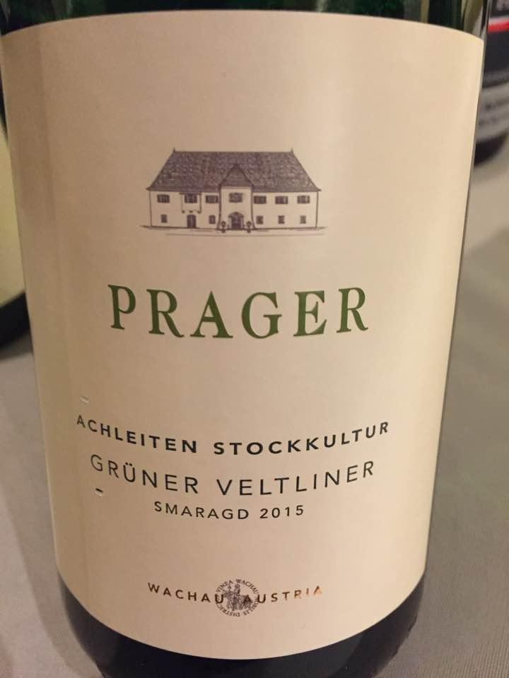 Prager – Achleiten Stockkultur – Grüner Veltliner Smaragd 2015 – Wachau
