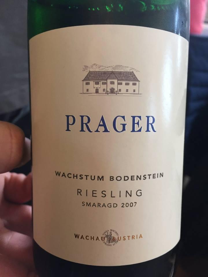 Prager – Riesling Smaragd 2007- Wachstum Bodenstein– Wachau