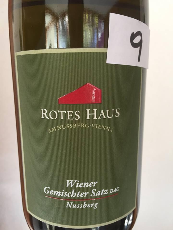 Rotes Haus – Nussberg 2015– Wiener Gemischter Satz Dac, Vienna