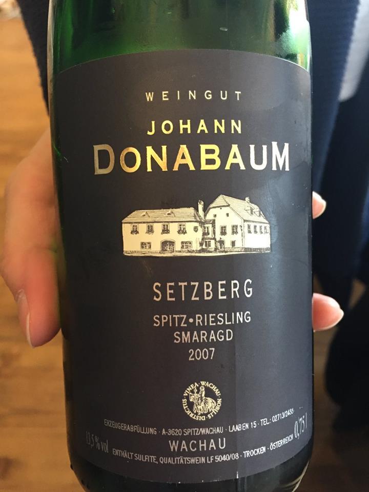 Weingut Johann Donabaum – Setzberg – Spitz – Riesling Smaragd 2007 – Wachau