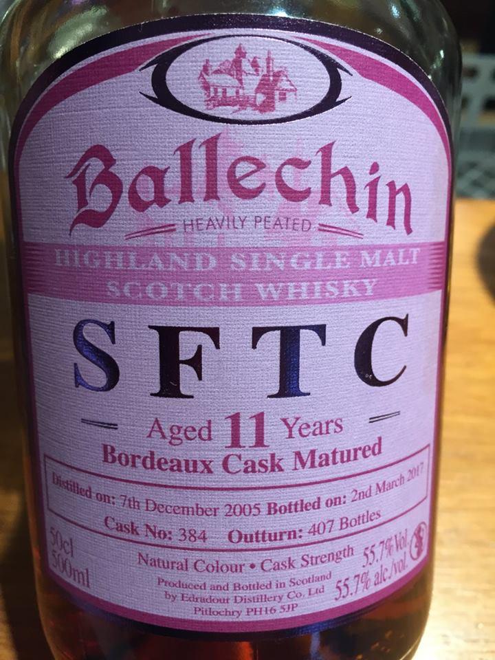Ballechin – SFTC – Aged 11 Years – Bordeaux Cask Matured– Highland, Single Malt – Scotch Whisky