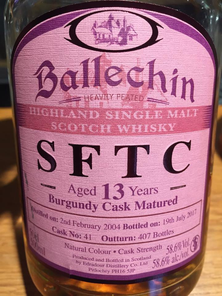 Ballechin – SFTC – Aged 13 Years – Burgundy Cask Matured – Highland, Single Malt – Scotch Whisky