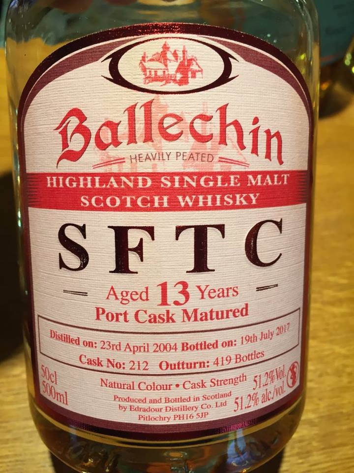 Ballechin – SFTC – Aged 13 Years – Port Cask Matured – Highland, Single Malt – Scotch Whisky